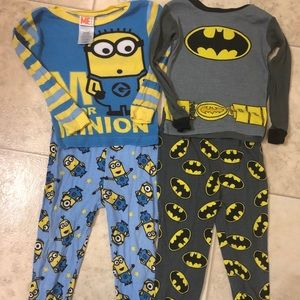 Other - 4 for $12 Minions/Batman pj sets 2T pants/shirt